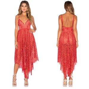 For Love and Lemons Rosemary Midi Lace Dress